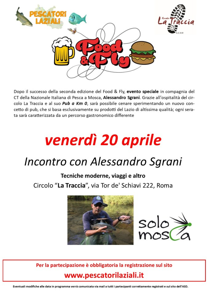 Food & Fly Special Event Alessandro Sgrani