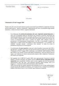 CHIARIMENTO DELLA REGIONE CAMPANIA